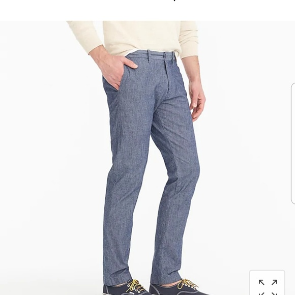 J. Crew Other - NWT J. Crew 484 Slim-fit pant in stretch chambray